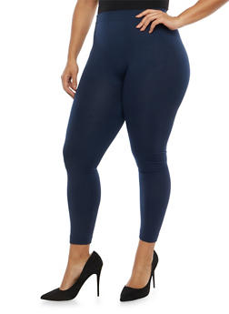 Plus Size Soft Knit Fleece Lined Leggings - 1969061630068