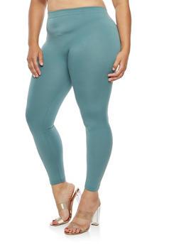 Plus Size Fleece Lined Leggings - 1969061630069