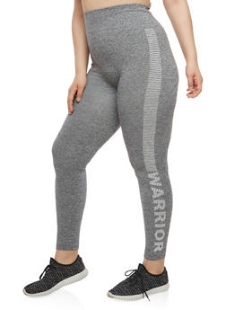 Plus Size Warrior Graphic Leggings - 1969061630077