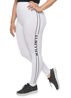 Plus Size Killin it Graphic Leggings - 1969061630332