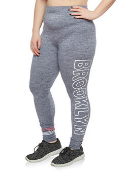 Plus Size Brooklyn Graphic Leggings - 1969061631249