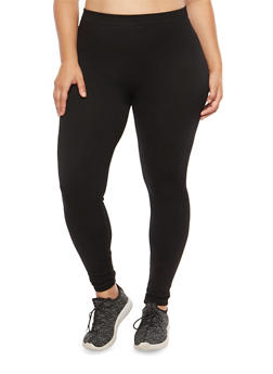Plus Size French Terry Leggings - 1969061631289
