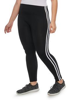Plus Size Fleece Lined Leggings - 1969061632309