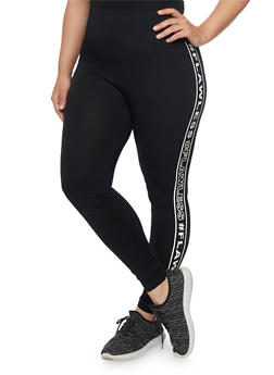 Plus Size Flawless Graphic Leggings - 1969061635330