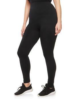 Plus Size Fleece Leggings - 1969061636127