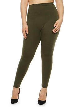 Plus Size French Terry Leggings - 1969062900001