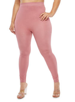 Plus Size Solid Leggings - 1969062900584