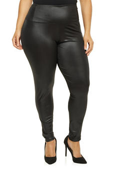 Plus Size Faux Leather Leggings - 1969062905801