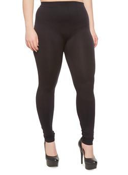 Plus Size Solid Performance Leggings - 1969062906028