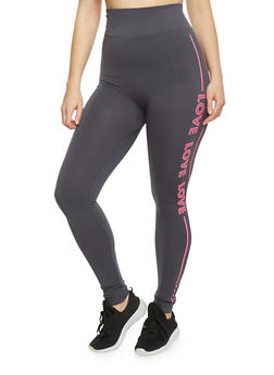 Plus Size High Waisted Graphic Activewear Leggings - 1969062906506