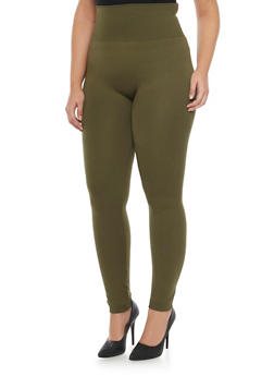 Plus Size High Waist Leggings - 1969062909701