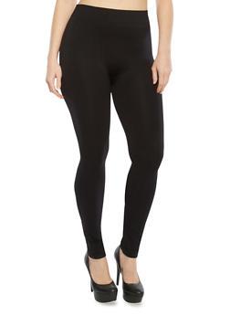 Plus Size Seamless Leggings,BLACK,medium