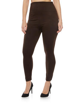 Online Exclusive - Plus Size High Waisted Fleece Leggings - 1991062703871