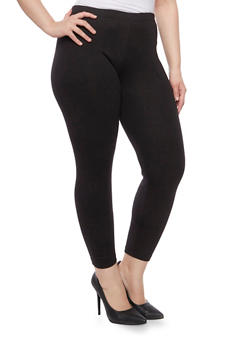 Online Exclusive - Plus Size Ribbed Knit Leggings - 1991062708003