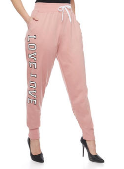 Online Exclusive - Plus Size Love Graphic Joggers - 1991072295600