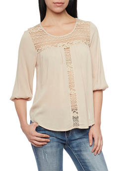 Crochet Ruched Top - 3001054268649