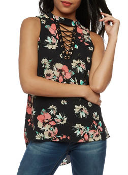 Floral High Low Keyhole Tank - 3001058757496