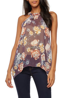 Floral Sleeveless Top - 3001067330839