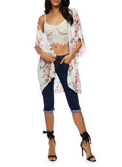 Chiffon Floral Kimono - 3003054261254