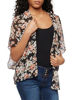 Floral Chiffon Kimono - 3003054268987