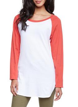 Raglan Sleeve T-Shirt Dress - 3014033875162