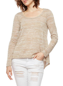 Space Dye Top with Tulip Back Paneling - 3014054267814