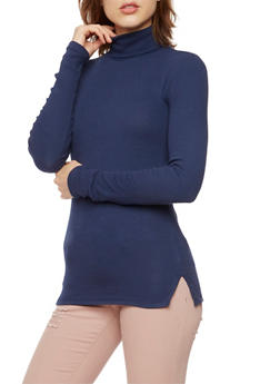 Turtleneck Sweater in Ribbed Knit - 3014054267933