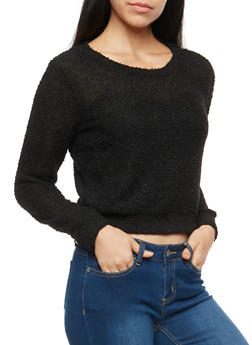 Two Tone Soft Knit Sweater - 3014054268028