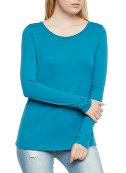 Jersey Top with Long Sleeves - 3014054268035