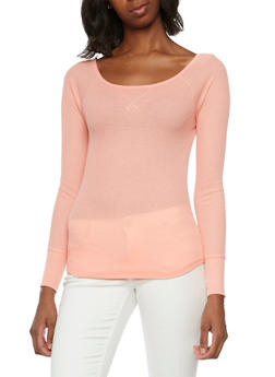 Thermal Top with Scoop Neck - BLUSH - 3014066240615