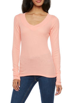 Thermal Top with V Neck - BLUSH - 3014066241237