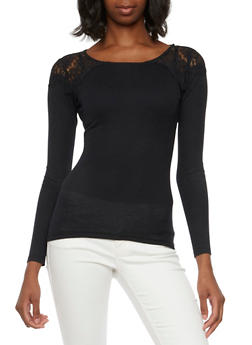 Thermal Top with Crochet Shoulders - 3014066241607