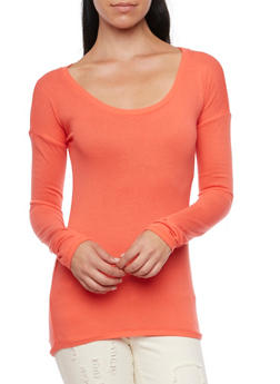 Sweater with Scoop Neck - 3014066249181