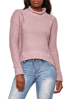 Chunky Knit Ripped Long Sleeve Sweater - 3020015050010