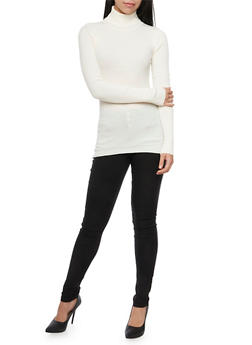 Ribbed Turtleneck Sweater - 3020015050034