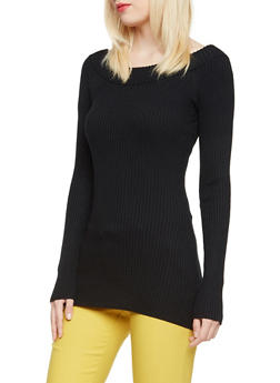 Ribbed Top with Boat Neck - 3020015050035