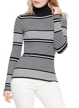 Striped Turtleneck Sweater - 3020015050037