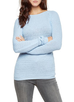 Popcorn Knit Sweater - 3020038346109