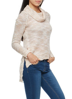 Cowl Neck High Low Sweater - 3020038346138