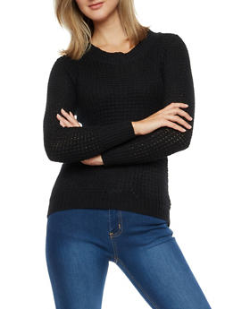 Long Sleeve Solid Sweater - 3020038347104