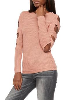 Open Sleeves Knit Sweater - 3020038347121