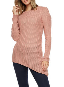 Long Sleeve Asymmetrical Sweater - 3020038347125
