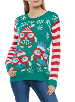Naughty or Nice Graphic Sweater - 3020038347160