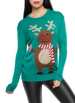 Reindeer Graphic Sweater - 3020038347163