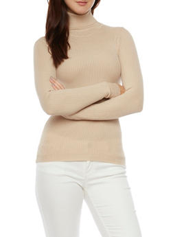 Ribbed Turtleneck Sweater - 3020038347422