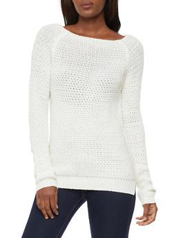 Long Sleeve Knit Sweater - IVORY - 3020038348108