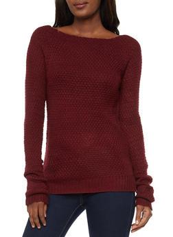 Long Sleeve Knit Sweater - 3020038348108