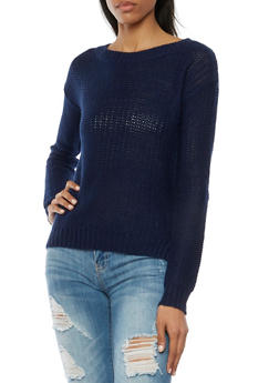 Sweater with High Low Hem - 3020054265624