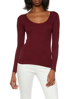 Ribbed Top with Scoop Neck - 3020054268681