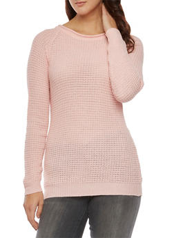 Textured Sweater - BLUSH - 3020054268907